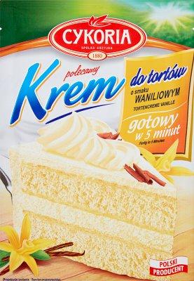 Creme Kuchen mit dem Vanillegeschmack