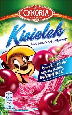 Cykoria Kisielek kisiel z kawałkami owoców instant o smaku wiśniowym