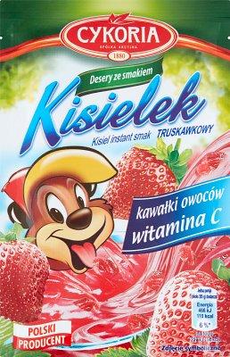 Cykoria Kisielek kisiel z kawałkami owoców instant o smaku truskawkowym