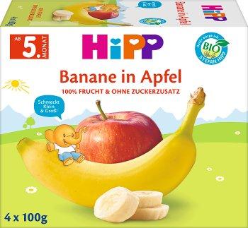Hipp przecier owocowa chwila BIO 4x100g Jabłka - Banany