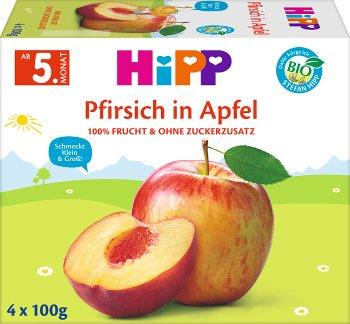 Hipp przecier owocowa chwila BIO 4x100g Jabłka - Brzoskwinie