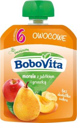 BoboVita mus owocowy w tubce morele z jabłkiem i gruszką