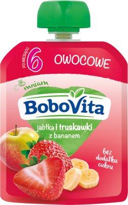 BoboVita mus owocowy w tubce jabłko i truskawki z bananem