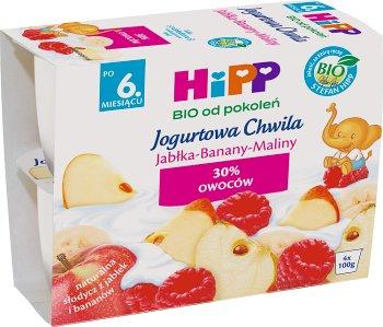 Jogurtowa Chwila Jabłka-Banany-Maliny BIO 4 szt. x 100 g