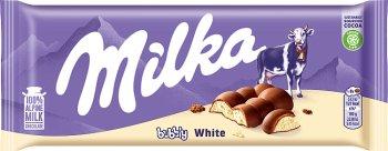 Milka Bubbly White mleczna czekolada z napowietrzona białą czekoladą