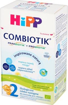 HiPP BIO Combiotik 2 Ekologiczne mleko następne dla niemowląt po 6. miesiącu 600 g
