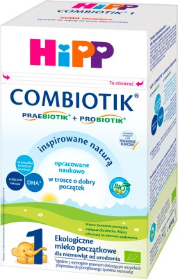 HiPP 1 BIO Orgánica Combiotik leche infantil para los bebés desde el nacimiento