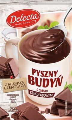 Delecta szybki budyń smak czekoladowy z belgijską czekoladą