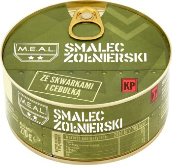 M.E.A.L Smalec żołnierski ze skwarkami i cebulką