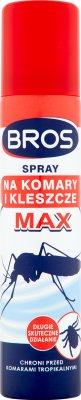 Bros spray pour les moustiques et les tiques MAX
