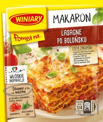 Winiary Pomysł na... Lasagne po bolońsku z parmezanem