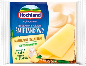 Hochland ser topiony w plastrach Śmetankowy