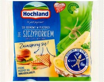 Hochland ser topiony w plastrach ze szczypiorkiem