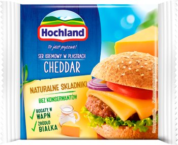 Hochland ser topiony w plastrach Cheddar