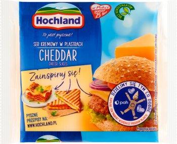 Hochland ser topiony Cheddar w plastrach