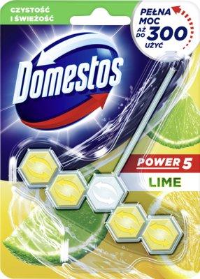 Domestos WC Power 5 zawieszka z kostką Lime