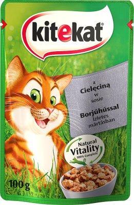 Kitekat влажный корм для кошек с телятиной 100 г
