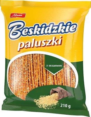 Aksam Beskidzkie se pega con semillas de sésamo