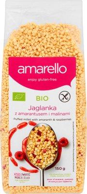 Amarello Jaglanka z amarantusem i malinami BIO