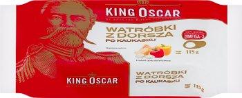 Roi Oscar de foie de morue après kaukasku