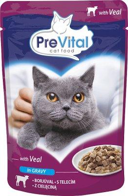 PreVital pełnoporcjowa karma dla dorosłych kotów z cielęciną