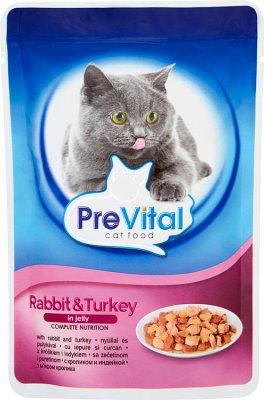 PreVital pełnoporcjowa karma dla dorosłych kotów z królikiem w galaretce