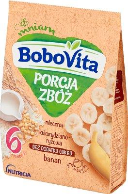 BoboVita porcja zbóż kaszka mleczna bananowa kukurydziano-ryżowa