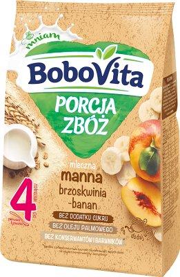 BoboVita porcja zbóż kaszka mleczna manna bananowo-brzoskwiniowa