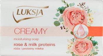 Luksja сливочным красоты мыло розы, и молочные белки