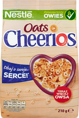Nestle Cheerios Oats Chrupkie płatki owsiane z dodatkiem kuleczek cheerios