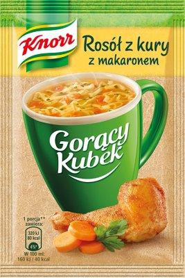 Knorr Gorący Kubek  zupa w proszku rosół z kury z makaronem