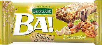 Bakalland Ba! baton zbożowy 5 orzechów