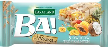 Bakalland Ба! Зерновой батончик 5 тропических фруктов