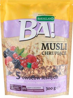 Bakalland Muesli crujiente de 5 frutas del bosque