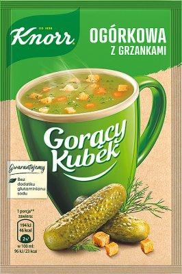 Gorący Kubek Knorr zupa w proszku ogórkowa z grzankami