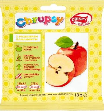 Crispy Natural Chrupsy Suszone chipsy z jabłka z przecierem bananowym