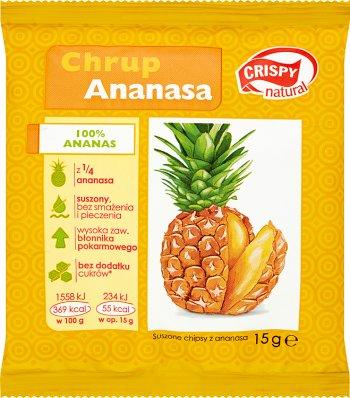 Crispy Natural Chrup Ananasa! Chipsy z suszonego ananasa