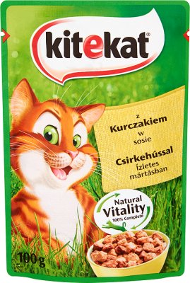Kitekat conserves pour les chats avec du poulet