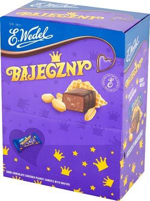 E. Wedel Bajeczny cukierki arachidowe z wafelkami w czekoladzie deserowej