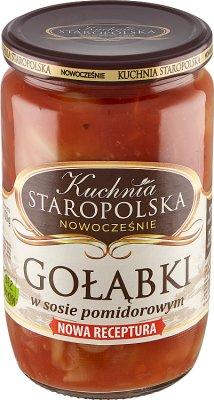 Kuchnia Staropolska Gołąbki w sosie pomidorowym