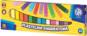 Astra Plastelina kwadratowa 18 kolorów