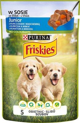 Friskies junior complète des aliments pour chiens pour les chiots-sachet de sauce de poulet et la carotte