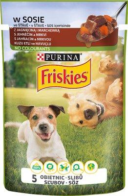 Friskies Adult Pełnoporcjowa karma dla dorosłych psów-saszetka z jagnięciną i marchewką w sosie