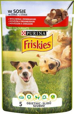 Friskies Adult Pełnoporcjowa karma dla dorosłych psów-saszetka z wołowiną i ziemniakami w sosie