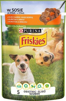 Friskies Adult Pełnoporcjowa karma dla dorosłych psów-saszetka z kurczakiem i marchewką w sosie