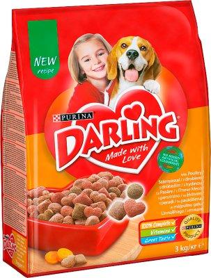 Darling Pełnoporcjowa sucha karma dla dorosłych psów-worek z drobiem i warzywami
