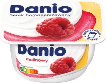 Danio Danone serek homogenizowany malinowy