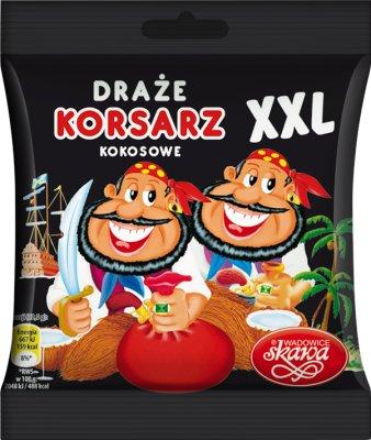 Skawa Korsarz draże XXL kokosowe