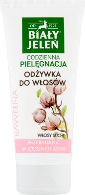 Biały Jeleń Czysta bawełna hipoalergiczna odżywka do włosów suchych