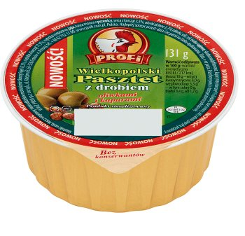 Profi Wielkopolski poultry pate with olives and capers